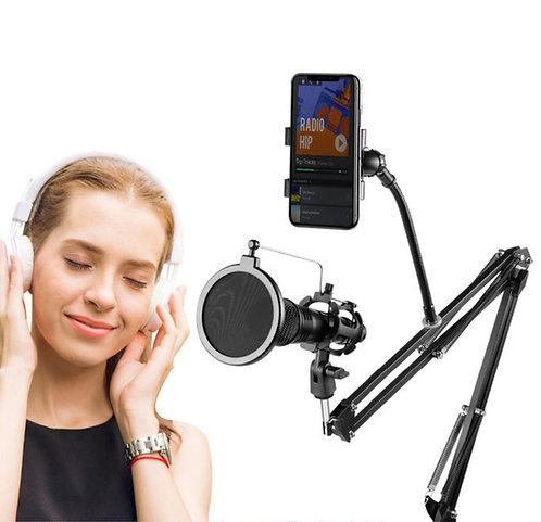 Держатель для микрофона и смартфона