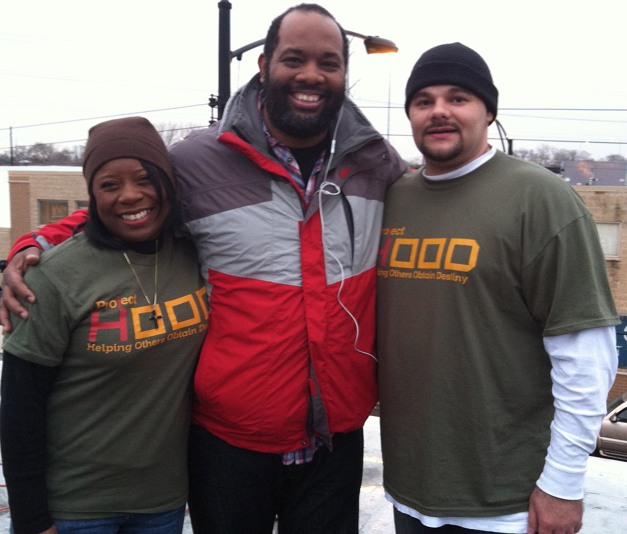 On the roof with Pastor Corey Brooks