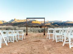 Ceremony wedding near zion national park