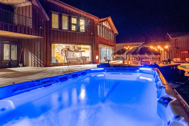 Hot Tub Night View