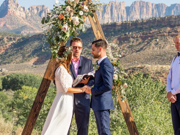 destination wedding in springdale utah.j
