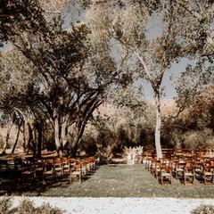 ceremony set up near zion national park.