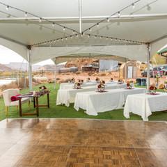 reception set up near zion national park