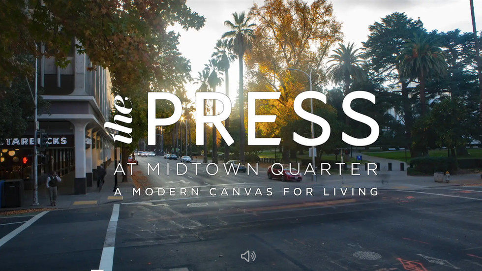Life in Midtown Sacramento. Website intro for residential property developement.