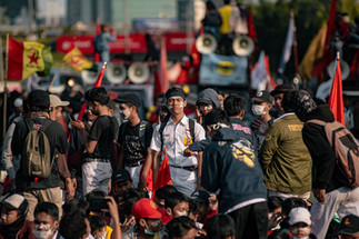 #ReformasiDikorupsi is the biggest Indonesian student movement -- that happened 21 years after the 1998 reformation movement-- to criticize the legalization of amendment of the Corruption Eradication Commission Law Draft and The Criminal Code Law Draft which lasted from September 19 to 30, 2020