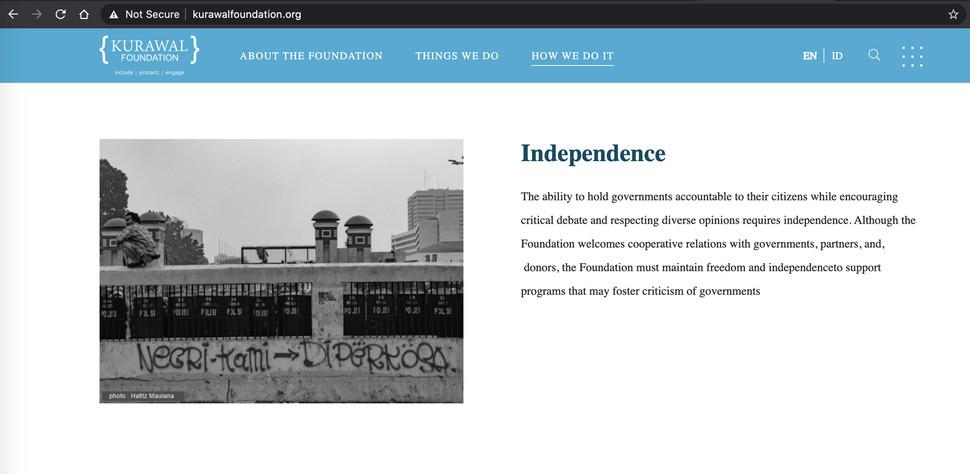 Kurawal Foundation Website