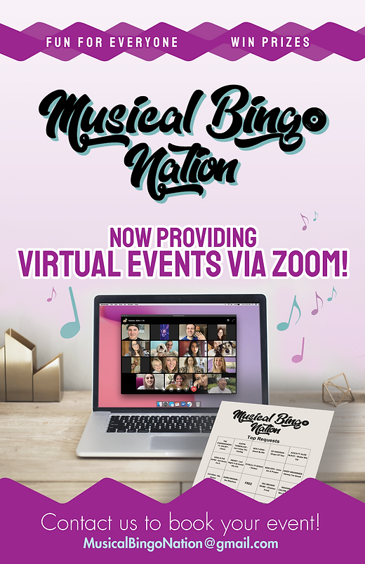 7-1 musical bingo - large flyer 11x17 -