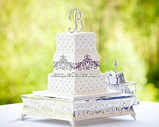 Ashley Black And White Wedding Cake