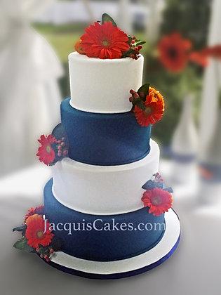 Blue And Orange Wedding Cake   Wedding Ideas