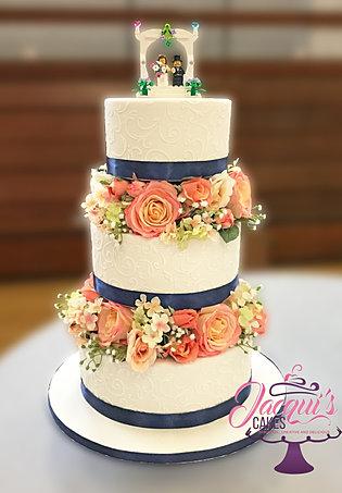 Kristins Navy Peach Cake