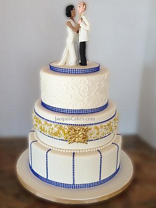 Wedding Cakes Royal Blue And Gold Cake Recipe