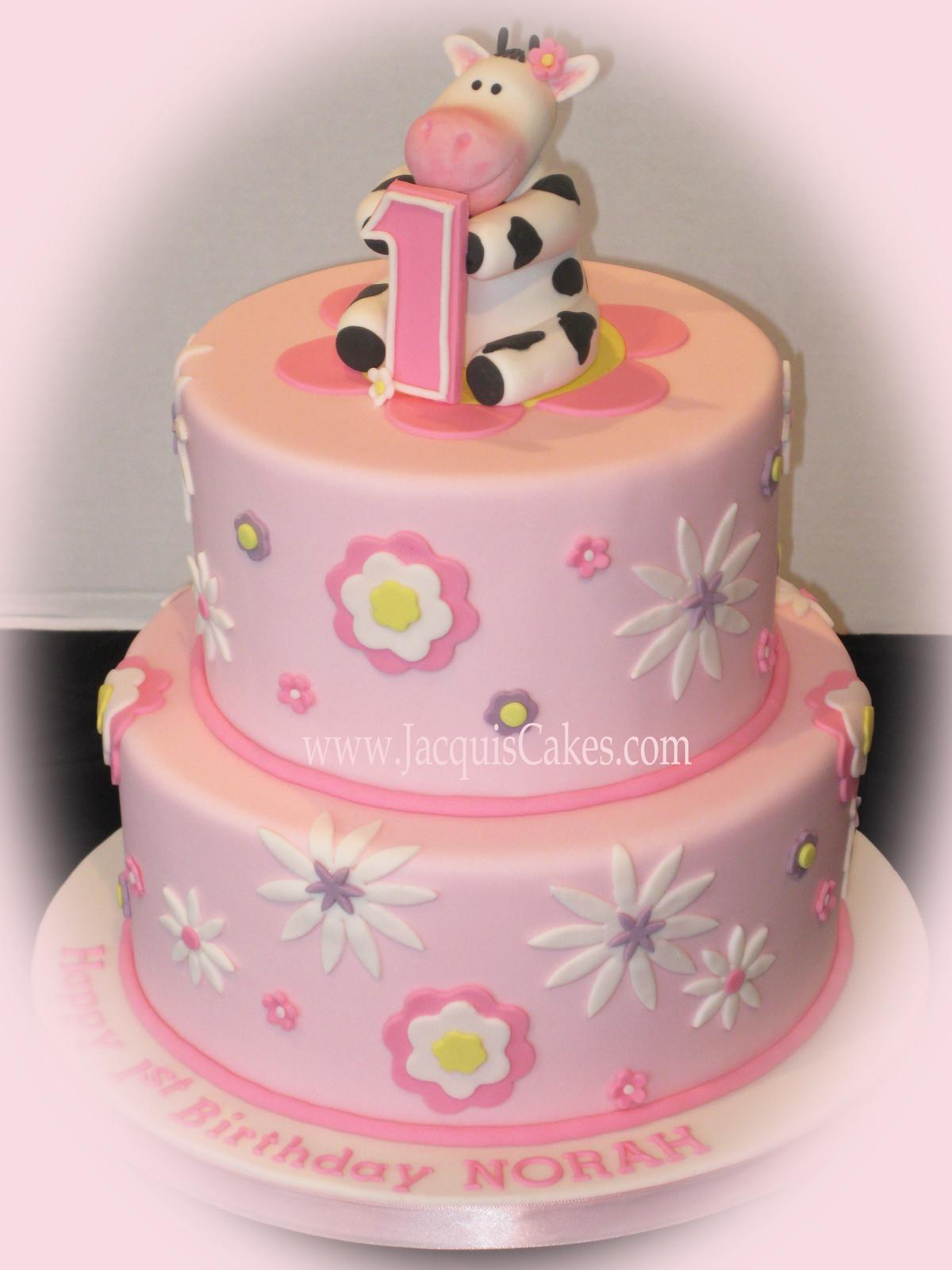 Pink Cow Birthday Cake