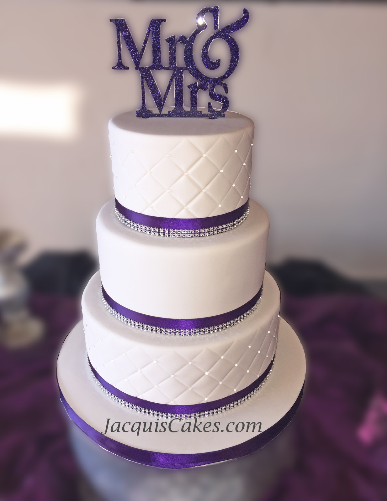 Purple and silver Wedding Cake Emily