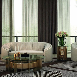 #rockfeller #coffeetable and #sidetable from #ineditomilano. Available in #chrome and #gold finishes