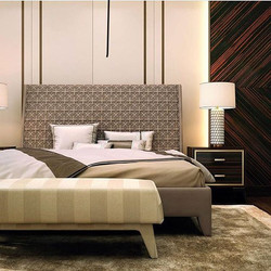 Bed from #ineditomilano. Model - Nolita Quilt. Designed by Gianella Ventura. Metal and wood load-bea