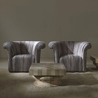 #semicircular #armchair model - Arcadia from #italianmanufacturer #asnaghi, the collection #atmosphe
