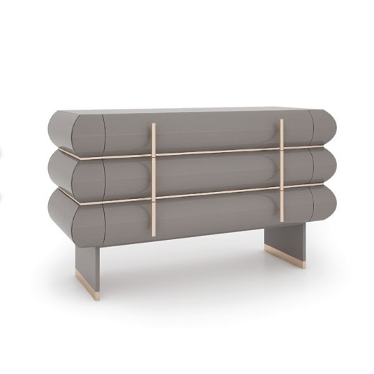 #quickship from Italy by #ineditomilano. Empire chest of drawers, designed by Gianella Ventura, down