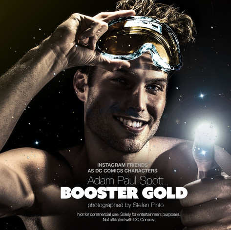 Adam Paul Spott as Booster Gold