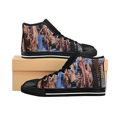 Oaxaca Meat Market Men's High-Top Sneakers