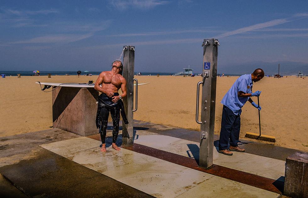 Santa Monica Beach by Stefan Pinto
