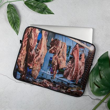 Oaxaca Meat Market Laptop Sleeve