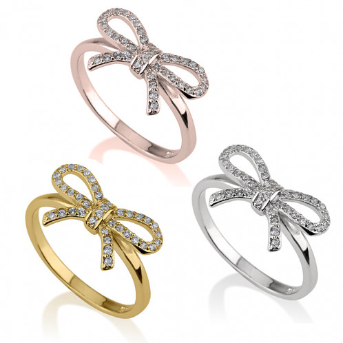 bow ring ct white tw diamond p rings v t w in gold