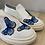 Thumbnail: Slip-on bianco con farfalle
