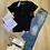 Thumbnail: T-shirt basica nera con bottoni