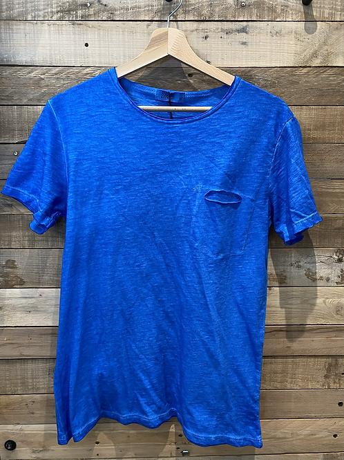 T-shirt lavaggio bluette