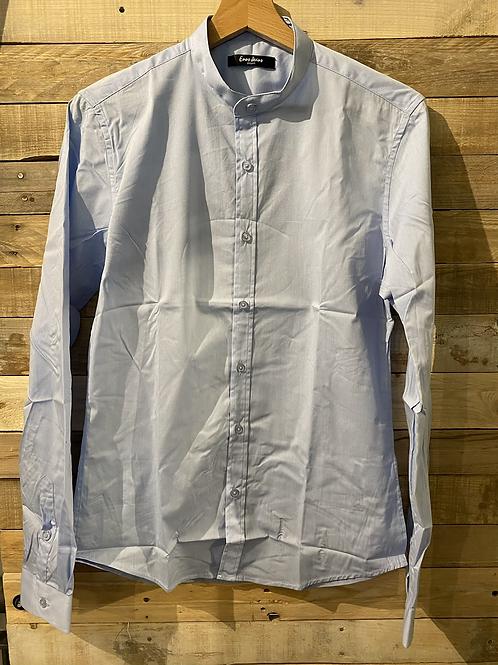 Camicia in cotone celeste