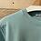 Thumbnail: Felpa in cotone garzato verde acqua