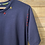 Thumbnail: T-Shirt in cotone blu con cuciture colorate