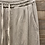 Thumbnail: Pantalone beige in cotone garzato