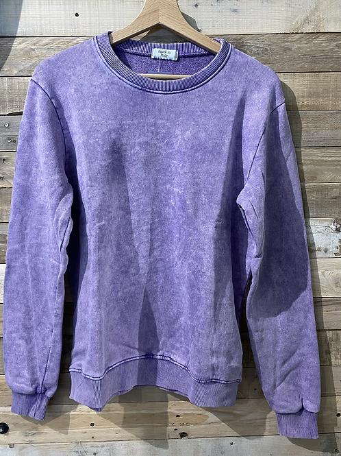 Felpa in cotone garzato viola