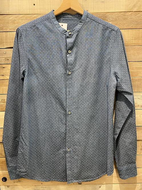 Camicia blu puntini bianchi