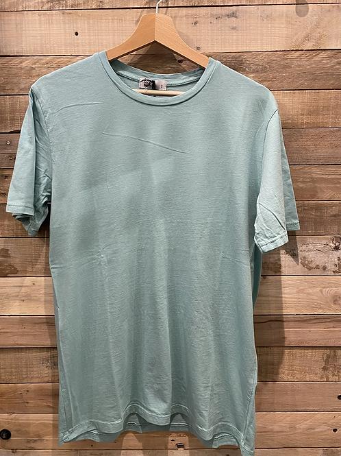 T-shirt in cotone verde acqua