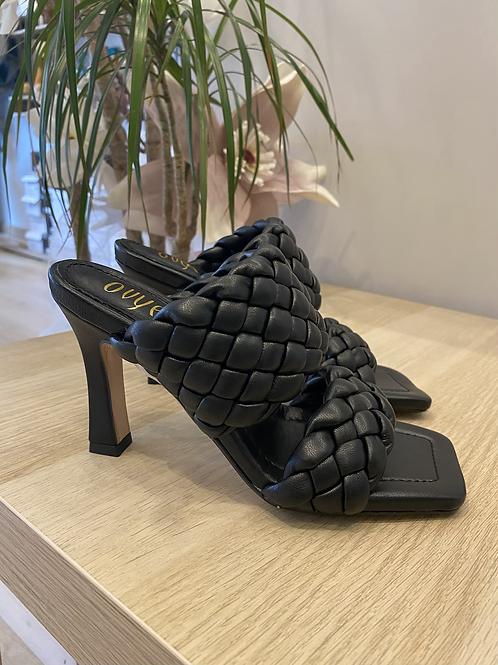Sandalo sabot intreccio