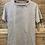Thumbnail: T-shirt in cotone grigio con cuciture colorate