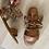 Thumbnail: Sandalo schiava cuoio con borchie