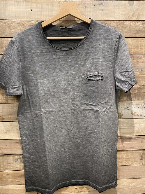 T-shirt lavaggio grigio