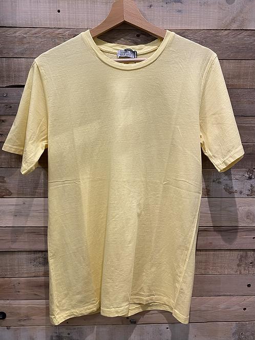 T-shirt in cotone giallo