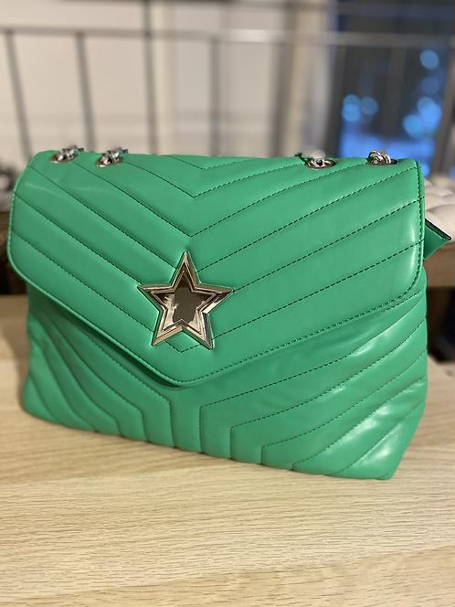 Borsa verde con stella