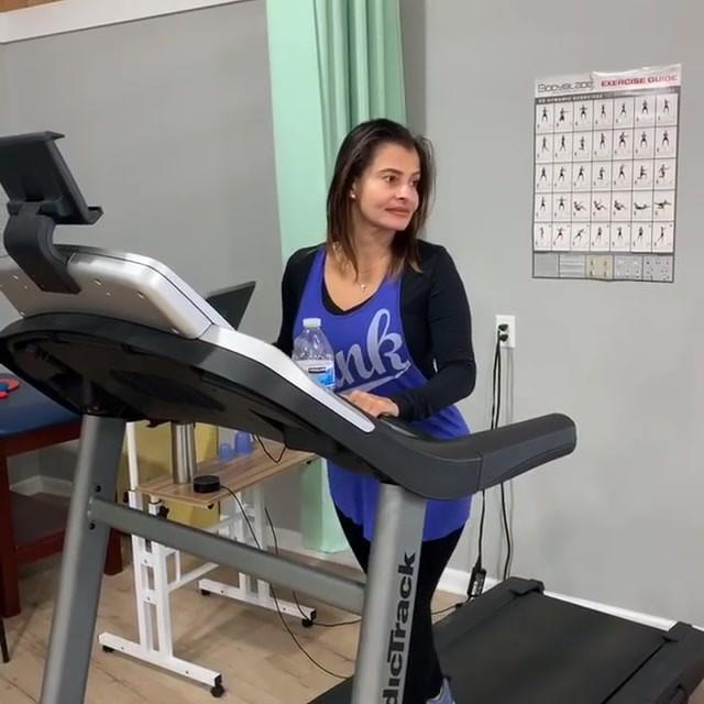 Vestibular training on Treadmill- rotati
