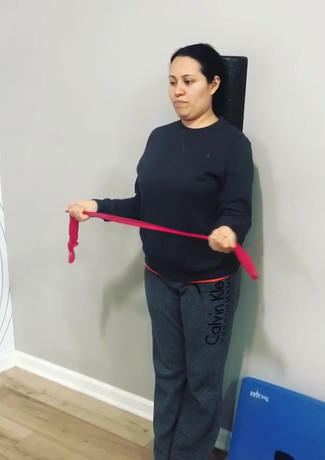 Posture correction exercise with core st