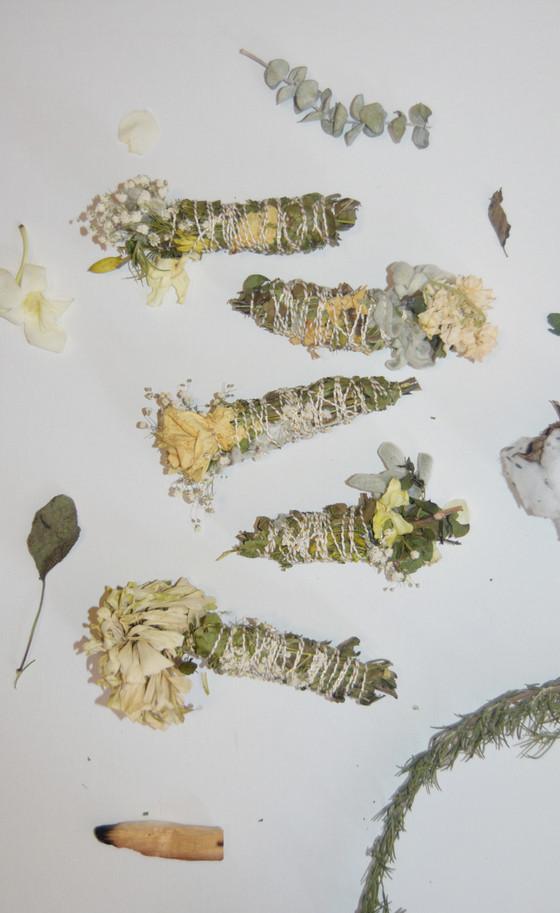 floral smudge sticks