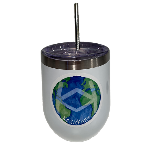 Insulated Wine Tumbler with SS Straw