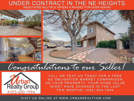 Under Contract in the NE Heights