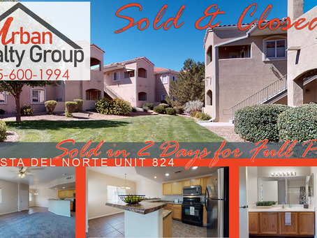 Sold & Closed in Vista Del Norte