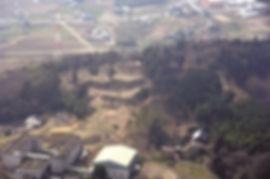 上空から見た杉山城跡