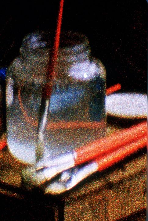 Artist Brushes Paris 1955